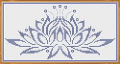 Water Lily - Counted Cross Stitch Pattern (X-Stitch PDF) Thanks for visiting my store! This cross-stitch pattern was personally and lovingly designed by me! The pattern is shown in dark pink, but you could substitute any colors you like. Cross Stitch Love, Cross Stitch Needles, Cross Stitch Fabric, Counted Cross Stitch Patterns, Dmc Embroidery Floss, Back Stitch, Needlework, Print Patterns, Mandala