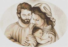 Schema per il punto croce: La Sacra Famiglia_8