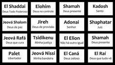 nomes de deus e seus significados - Pesquisa Google
