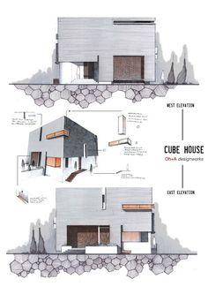 Elevations by Anique Azhar, via Behance