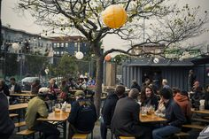 Local hotspot: Hayes Valley Biergarten. When they're not busy brewing their own shine, SF locals love to drink in the outdoors by the pint.