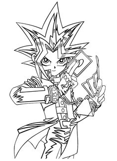 Yami Yugi Coloring Pages Kids - Yu Gi Oh cartoon coloring pages