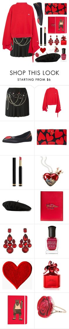 """""""Daydreaming"""" by jaeim ❤ liked on Polyvore featuring Vetements, Love Moschino, Kate Spade, Gucci, Disney, Coach, Dolce&Gabbana, Deborah Lippmann, Marc Jacobs and Sian Bostwick Jewellery"""