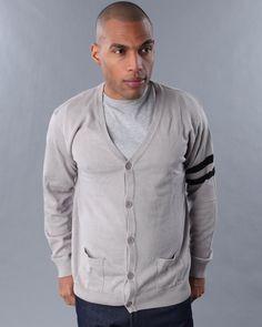 Basic Essentials Men Arm Band Cardigan - Sweatshirts & Sweaters $9.64