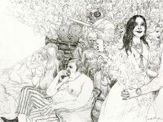 Disco Night, Bizarre Art, Art Et Illustration, Comic Artist, Night Club, Art Pictures, Character Design, Comics, Retro
