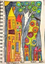 Inktense Watercolor pencils in my sketchbook