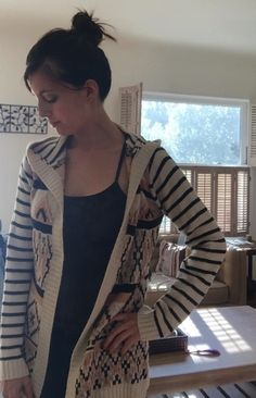 This sweater looks ridiculously cozy. I love the stripes, the hood, and that it's not too voluminous. Hooded Cardigan, Graphic Prints, Stitch Fix, Stylists, My Love, My Style, Style Ideas, Sweaters, Stripes