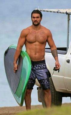 Jason Momoa ready to Surf ♥♠✤