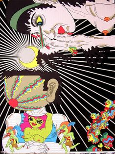 Psychedelic painting by Keiichi Tanaami from the 1960s.