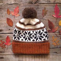 Baby Hats Knitting, Fair Isle Knitting, Loom Knitting, Knitted Hats, Animal Knitting Patterns, Knitting Designs, Knitting Projects, Baby Winter Hats, Norwegian Knitting