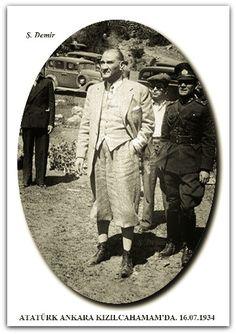 ATATÜRK ANKARA KIZILCAHAMAM'DA. 16.07.1934