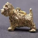 West Highland White Terrier gold-plated PENDANT XL