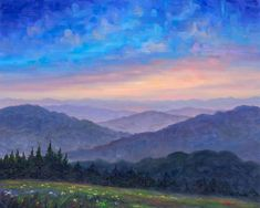 """""""Jeff uses oils and acrylics to capture the essence of any particular scene, be it a majestic mountain view from the Blue Ridge Parkway, afternoon light reflecting from the buildings of an urban skyline, or the pristine waters of the Carolina crystal coast."""""""