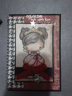 colored with wood pencils, greeting farm stamp