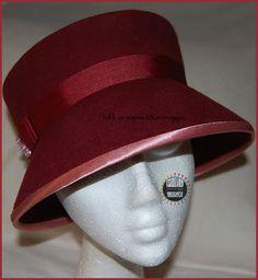 Sombrero fieltro rojo. Red felt hat pilicose.blogspot.com.es