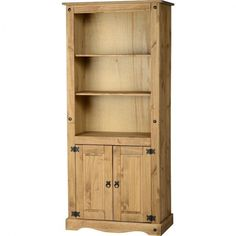 Tall Wooden Bookcase Storage Shelving Unit Rustic CD DVD Bookshelf Cupboard New #TallWoodenBookcase #Modern