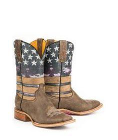 Tin Haul Ladies American Woman Sq Toe Boots - Statelinetack.com