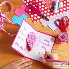 Open Your Heart: This pop-up card -- perfect for a grandparent or best friend -- features a moving center that expands in a fluttery motion as it's opened.
