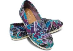 Essential Beach Item: canvas slip ons Toms Tropical Canvas Womens Classics my-style