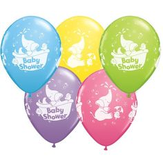 Cute elephant baby shower balloons back in stock