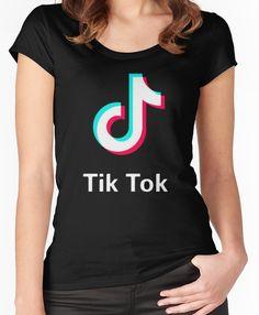 4b600970083 Tik Tok - Music Note Women s Fitted Scoop T-Shirt Tik Tok