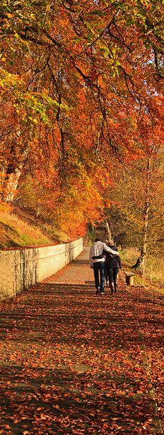 Strolling in New Lenark, Scotland. Photo by John Cannon.