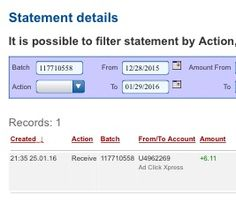 AdClickXpress is the top choice for passive income seekers. Making my daily earnings is fun, and makes it a very profitable! I am getting paid daily at ACX and here is proof of my latest withdrawal. This is not a scam and I love making money online with Ad Click Xpress. https://twitter.com/stefanijastef/status/692706185896693760