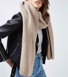 Topshop Soft Knitted Scarf: