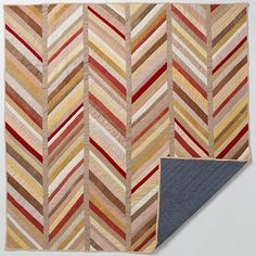 Herringbone Quilt Reminds me of Feathers and chevron