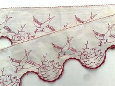 French Embroidery / Embroidered Shelf by FrenchVintageTextile, €23.00