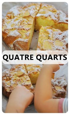 BaBy w kuchni: Quatre Quarts - Francuskie ciasto 4/4 z jabłkami