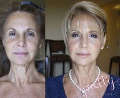 before and after natural glow . mature makeup  www.prettybyelina.com