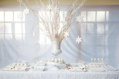 Winter Wedding Candy Buffet or Dessert Station Ideas - Wedding and Party styles inspired by Loveluxe Blog