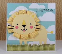 Lion Birthday Card or Invitation Handmade, $5.50