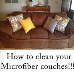 Clean your microfiber couch / furniture!  After battling spots and streaks here & there I found the best way to clean my entire microfiber couch!  I used a gallon of hot water in bucket, a lid full of All laundry detergent, and 1/2 cup of Borox laundry booster and I scrubbed with a microfiber blue cloth ($1 tree). Swish towel, ring out And SCRUB! Don't be afraid to get it very wet!  When water gets dirty make new bucket of mix.  Use shop vac or air dry. I will do this version everytime now!