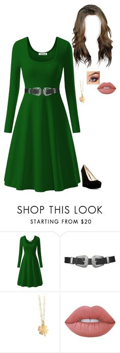 """Happy St. Patrick's Day"" by nickpick ❤ liked on Polyvore featuring Topshop, Lime Crime and Nine West"