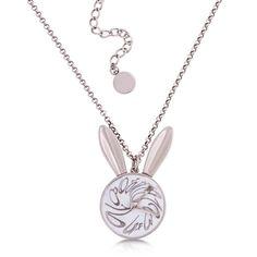 Disney White Rabbit Watch Necklace