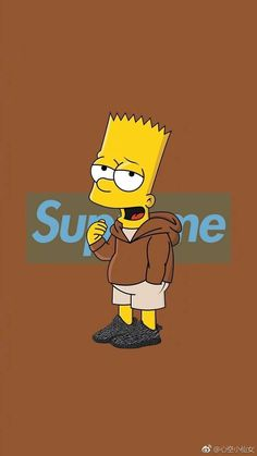 Sad Wallpaper, Tumblr Wallpaper, Galaxy Wallpaper, Cartoon Wallpaper, Wallpaper Quotes, Bart Simpson, Supreme Background, Vlone Logo, Hypebeast Iphone Wallpaper