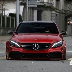 The widebody, the stance, the grille. This E-Class got me #fuckedup