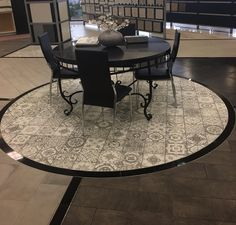 Marrakesh Grey matte #porcelain deco tile - makes a statement without overpowering your design, and its gentle color tones work well with a variety of tile options. What will YOU install with your Marrakesh #tile?? https://arizonatile.com/en/products/porcelain-and-ceramic/marrakesh