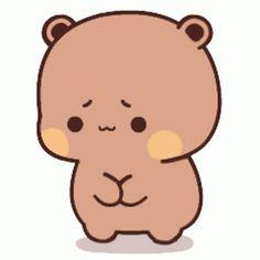 Cute Panda Cartoon, Cute Anime Cat, Cute Cartoon Pictures, Cute Love Pictures, Cute Love Cartoons, Chibi Cat, Cute Chibi, Gif Mignon, Bear Gif