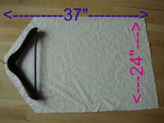 Turn old, unusable fitted sheets into garment bags!