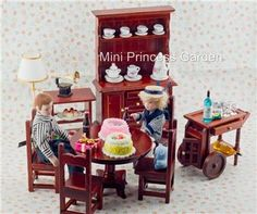 Dollhouse Miniature Dining Room Furniture Wine Cabinet
