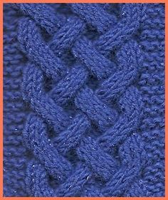 Try this beautiful Celtic Plait cable knit in your next project for a more dramatic look!