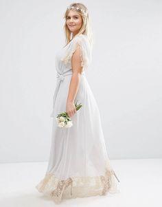 Tfnc wrap maxi dress with embellished waist belts
