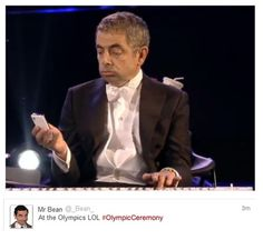 Mr. Bean at the Olympics :D
