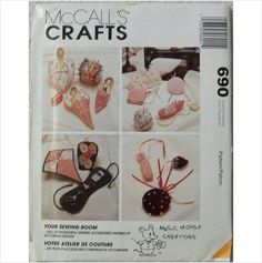 McCall's Crafts 690 Victorian Sewing Acccessories Uncut Pin Cushion Wall Pocket on eBid United States