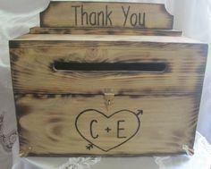 Wedding Card Box Rustic Keepsake Chest by dlightfuldesigns on Etsy, $75.00