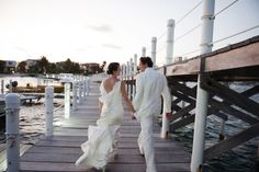 First walk together as Mr. & Mrs. at Las Terrazas Belize #lasterrazas #destinationwedding #belize