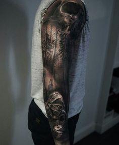 Výsledok vyhľadávania obrázkov pre dopyt post apocalyptic tattoo sleeve